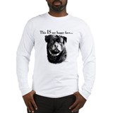 Rottweiler Happy Face Long Sleeve T-Shirt