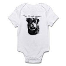 Rottweiler Happy Face Infant Bodysuit