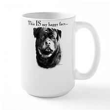 Rottweiler Happy Face Mug
