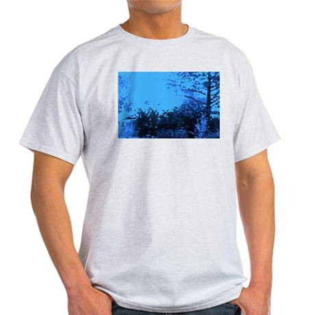 Blue Garden Ash Grey T-Shirt