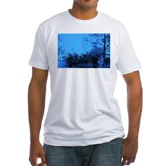 Blue Garden Fitted T-Shirt