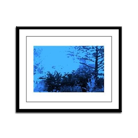 Blue Garden Framed Panel Print
