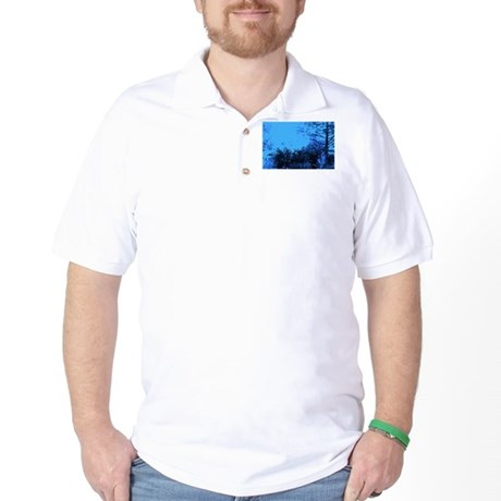 Blue Garden Golf Shirt