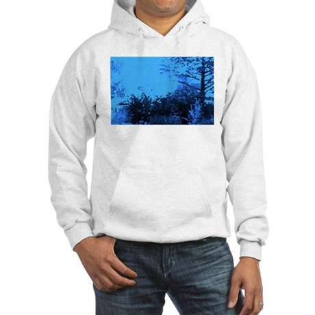 Blue Garden Hooded Sweatshirt
