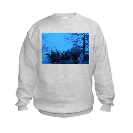 Blue Garden Kids Sweatshirt