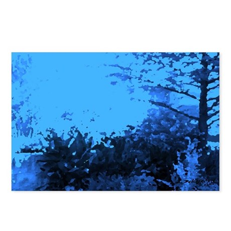 Blue Garden Postcards (Package of 8)