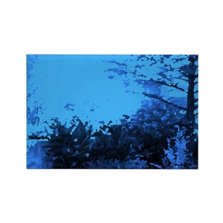Blue Garden Rectangle Magnet (100 pack)