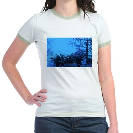Blue Garden Jr. Ringer T-Shirt