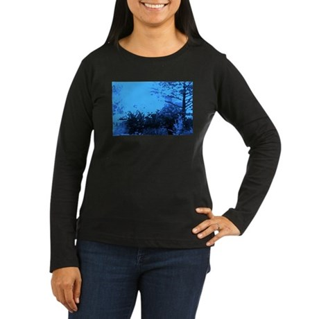 Blue Garden Women's Long Sleeve Dark T-Shirt