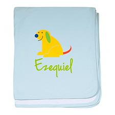 Ezequiel Loves Puppies baby blanket