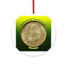 Arkansas Centennial Coin Ornament (Round)