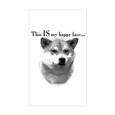 Shiba Inu Happy Face Rectangle Decal
