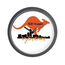 Still Hoppin In Sydney Wall Clock