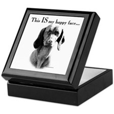 Vizsla Happy Face Keepsake Box