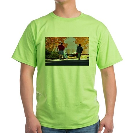 Early Autumn Stroll Green T-Shirt