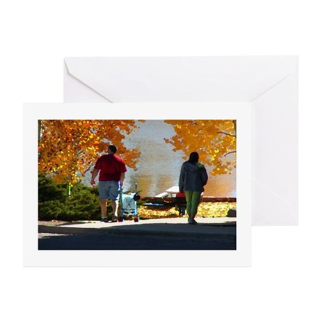 Early Autumn Stroll Greeting Cards (Pk of 10)