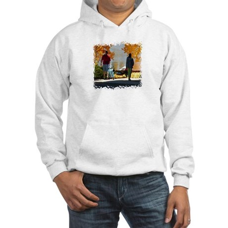 Early Autumn Stroll Hooded Sweatshirt