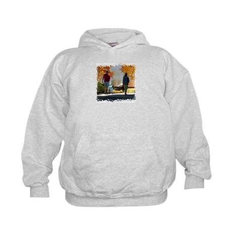 Early Autumn Stroll Kids Hoodie