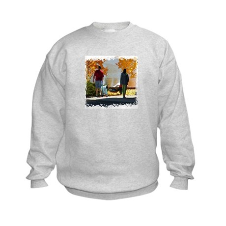 Early Autumn Stroll Kids Sweatshirt