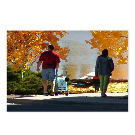 Early Autumn Stroll Postcards (Package of 8)