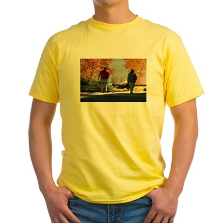 Early Autumn Stroll Yellow T-Shirt