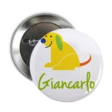 "Giancarlo Loves Puppies 2.25"" Button (100 pack)"