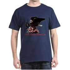 God Bless America Eagle Navy Blue T-Shirt