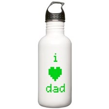 i heart dad (green) Water Bottle
