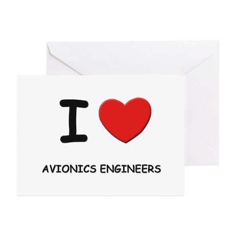 I love avionics engineers Greeting Cards (Package