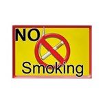 No Smoking Rectangle Magnet