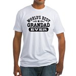 World's Best Grandad Ever Fitted T-Shirt