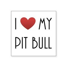 I Love My Pit Bull Sticker