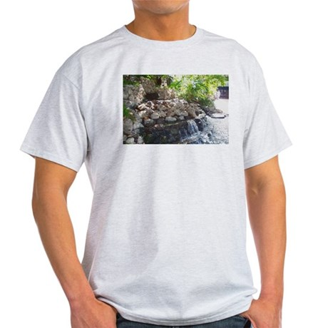 Garden Waterfall Ash Grey T-Shirt