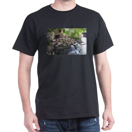 Garden Waterfall Dark T-Shirt
