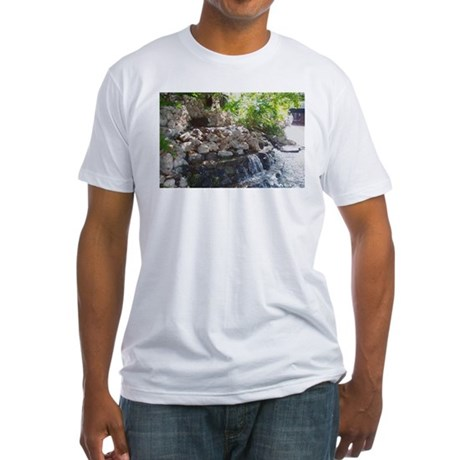 Garden Waterfall Fitted T-Shirt