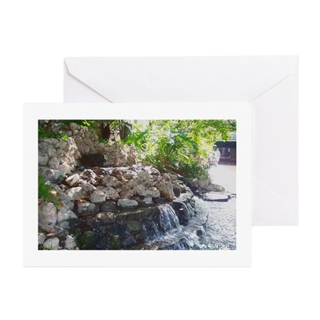 Garden Waterfall Greeting Cards (Pk of 10)