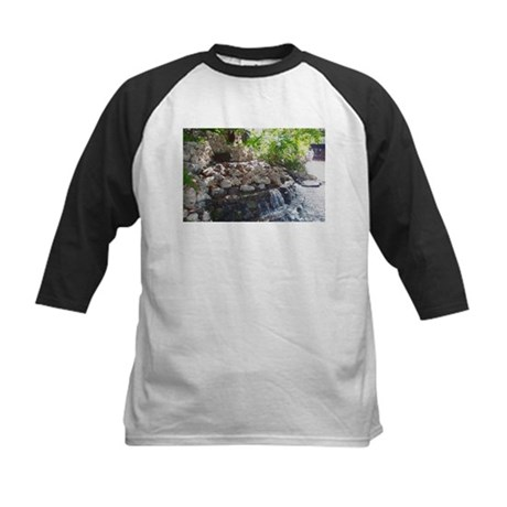 Garden Waterfall Kids Baseball Jersey