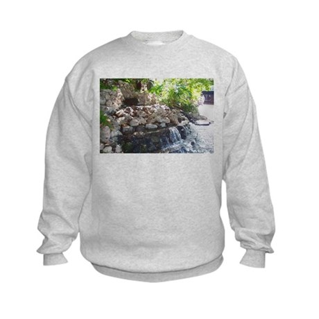 Garden Waterfall Kids Sweatshirt
