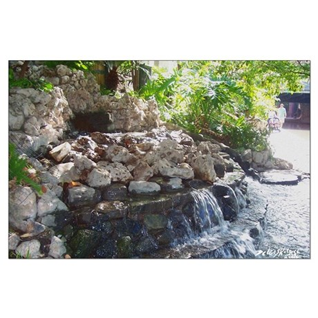Garden Waterfall Large Poster