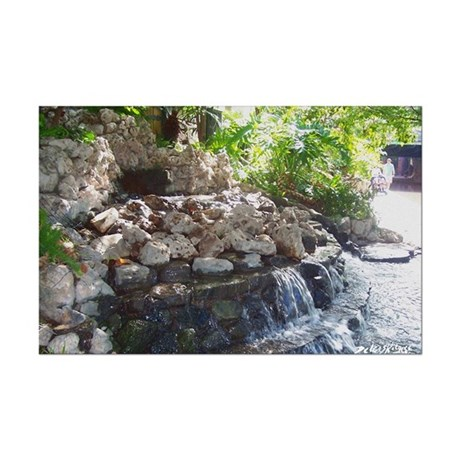 Garden Waterfall Mini Poster Print
