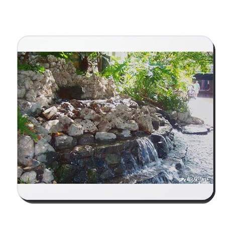 Garden Waterfall Mousepad