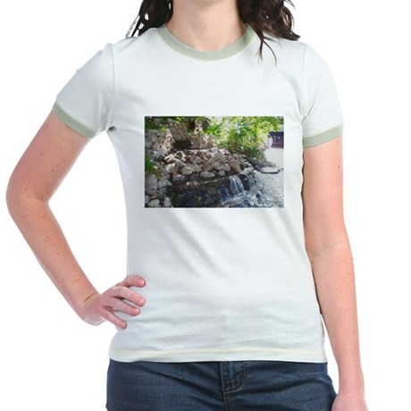 Garden Waterfall Jr. Ringer T-Shirt