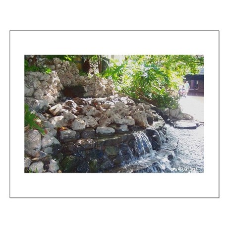 Garden Waterfall Small Poster