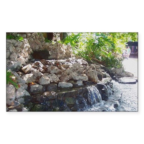 Garden Waterfall Rectangle Sticker