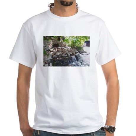 Garden Waterfall White T-Shirt