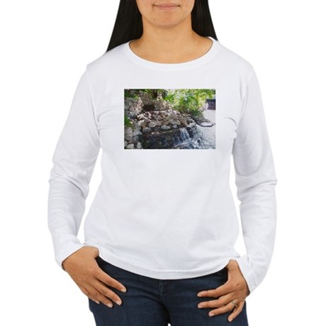 Garden Waterfall Women's Long Sleeve T-Shirt