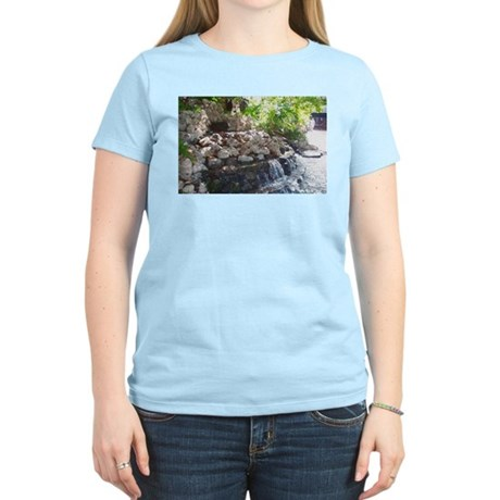 Garden Waterfall Women's Pink T-Shirt