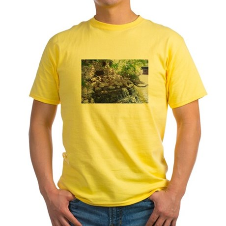 Garden Waterfall Yellow T-Shirt