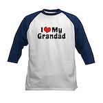 I Love My Grandad Kids Baseball Jersey