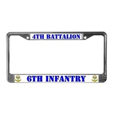 4th Battalion 6th Infantry License Plate Frame